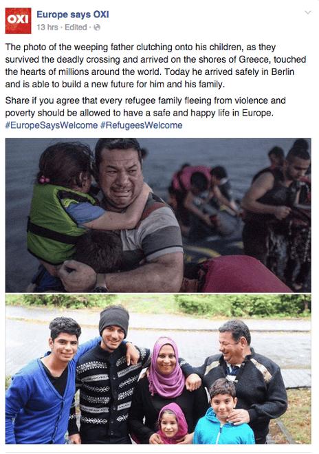 العائلة السورية التي انتشرت صورها في جزيرة كوس تصل برلين