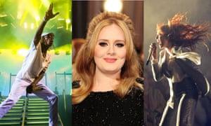 Wiz Khalifa Adele Florence + the Machine