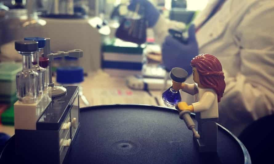 Challenging stereotypes: two years Lego brought out its first female lab scientist .