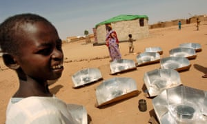 Solar stoves in a refugee camp in northeastern Chad