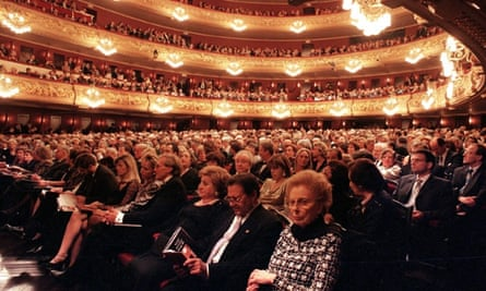 The audience at Liceu Opera House in Barcelona.