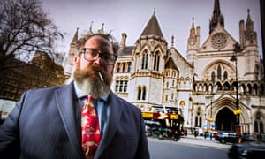 Myles Jackman outside the Royal Courts of Justice in London.