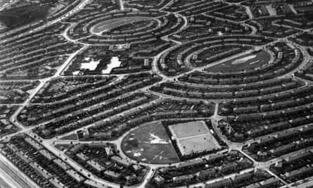 Suburban housing estates seen from the air in Queensbury, north-west London in 1935.