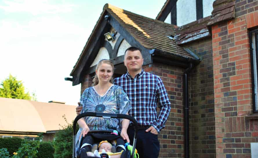 Marius Zarnescu, his wife Laura and three-month old daughter now live in Slough, where housing is more affordable.