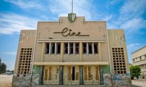 A cinema in Tombwa, Angola