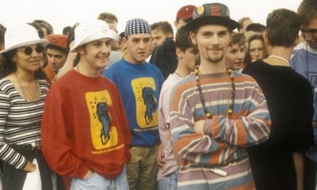 Mandatory Credit: Photo by PYMCA/REX Shutterstock (3489321a) Ravers queue up at Fantasia rave. Castle Donnington, UK 1993 STOCK STOCKRAVERSQUEUEUPATFANTASIARAVE.CASTLEDONNINGTONUK1993PYMCA08025883INDIEGROUPHATSSUNGLASSESADIDASNIKESHORTSBEADS1990SRAVECLOTHINGCLOTHESCOLOURFULCOLOURSUNSTYLISHUNSTYLISHFLOPPYMALEMANMENBOYSFANTAZIAPEOPLEStockNot-Personality21149607