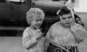 Jean Darling, left, and Joe Cobb in Noisy Noises, 1929.