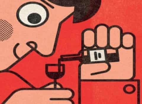 wine cartoon