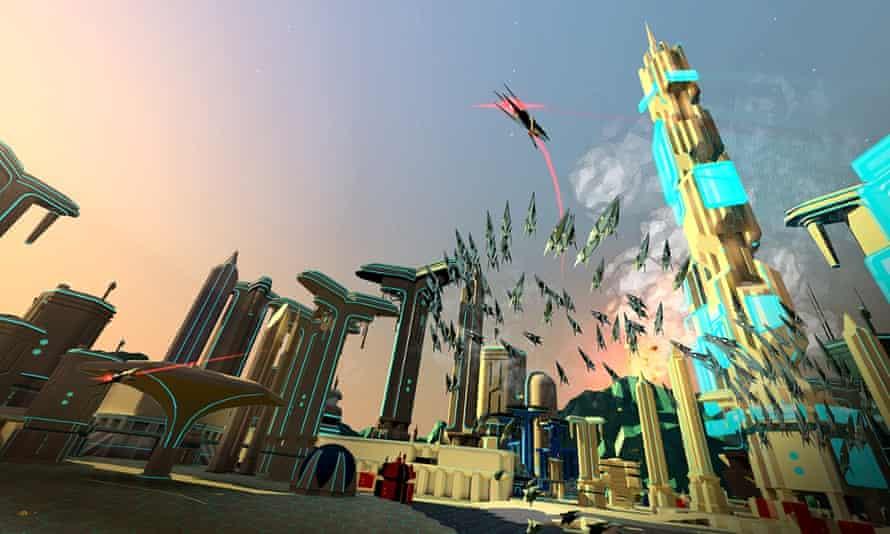 Battlezone virtual reality game screenshot