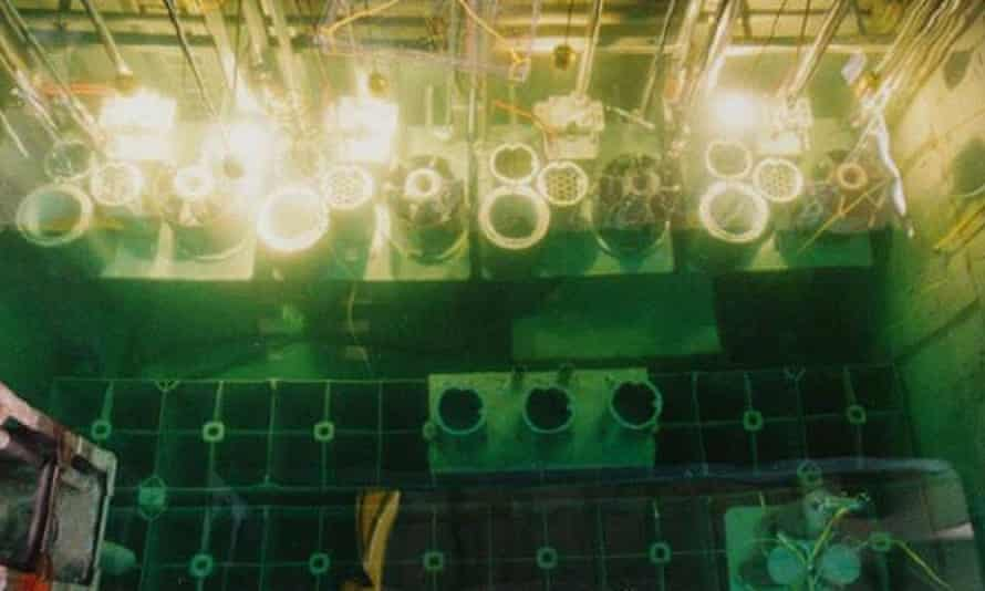 File photograph from 1996 of spent nuclear fuel rods in Yongbyon's storage pond.