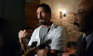 John McAfee was on the run; now he wants to run for president.