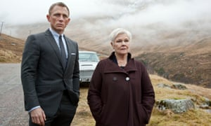 """Daniel Craig as James Bond, left, and Judi Dench as MI6 head M, in a scene from the film """"Skyfall."""""""