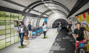 """<strong>London Underline</strong> In a bid to reduce congestion on the capital's roads, design firm <a href=""""http://www.gensler.com/projects/the-london-underline?l=all"""">Gensler</a> have taken the idea of <a href=""""http://www.theguardian.com/uk-news/2015/feb/04/segregated-cycle-lanes-london-tfl"""">segregated cycle lanes</a> to a whole new level (literally), by burying routes for two-wheeled commuters in abandoned tunnels beneath the capital's streets. With only a few deserted passages (mainly Green Park to Charing Cross), the Underline doesn't exactly solve the city-wide traffic issue. Still, the subterranean stretch could cater for the needs of daylight-phobic Londoners, with online shopping click-and-collect points, as well as cafes and shops"""