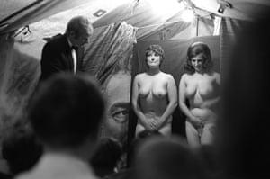 Striptease tent at Pinner annual fair, 1971
