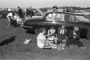 A picnic at the Derby, Epsom Downs, Surrey, 1970