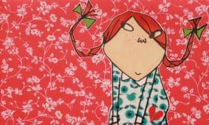 Lauren Child's illustration of Pippi Longstocking