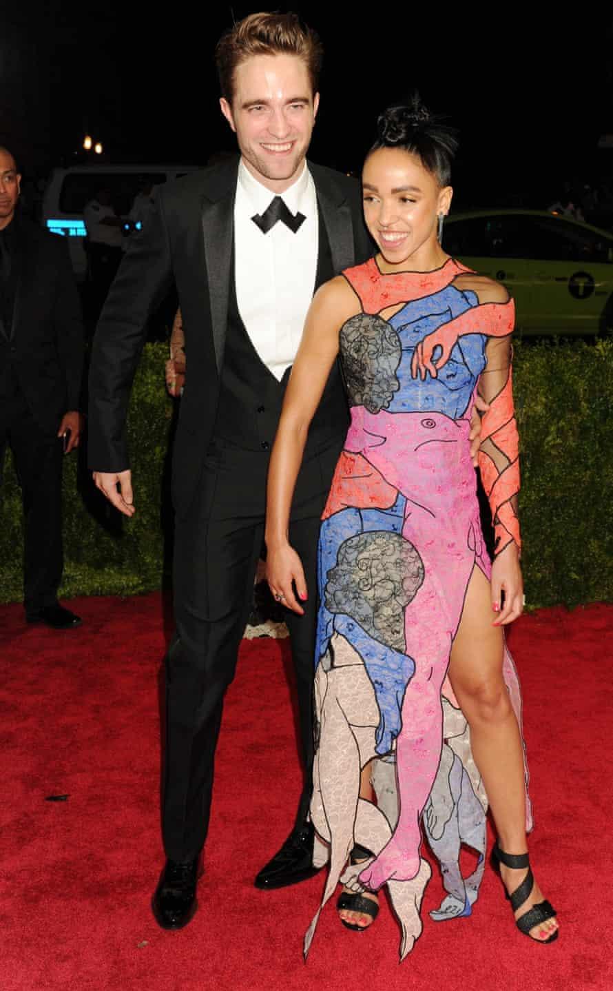 Leading lady: with girlfriend FKA Twigs.