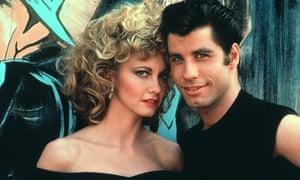 Olivia Newton-John and John Travolta in Grease (1978).