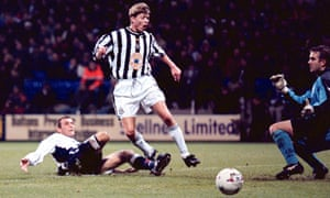 Jon Dahl Tomasson, here being denied a scoring chance by the Bolton goalkeeper Keith Branagan, failed to shine at Newcastle but had an excellent goals return for Denmark.