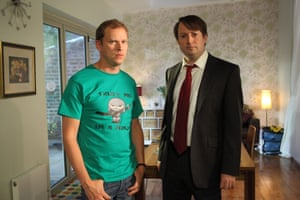 Robert Webb, left, and David Mitchell in Peep Show