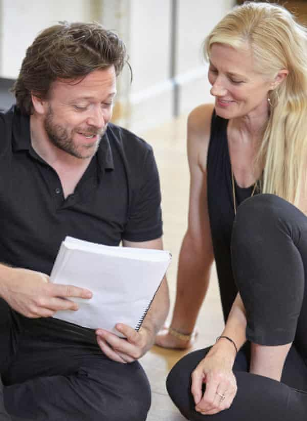 somebody and Joely Richardson in rehearsals for the Trevor Nunn production.