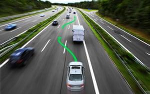 BMW self-driving road