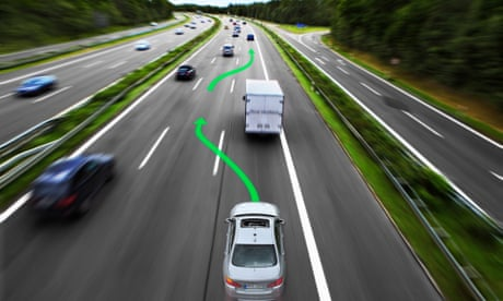 Selfdriving Cars Safe Reliable But A Challenging Sell For - Samsung safety truck shows the road ahead so cars can safely pass