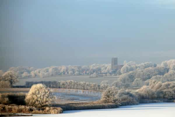 Hoar frost in the Cheshire countryside.