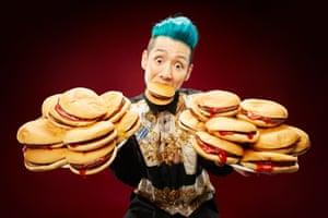 Takeru Kobayashi - Most hamburgers eaten in 3 minutes