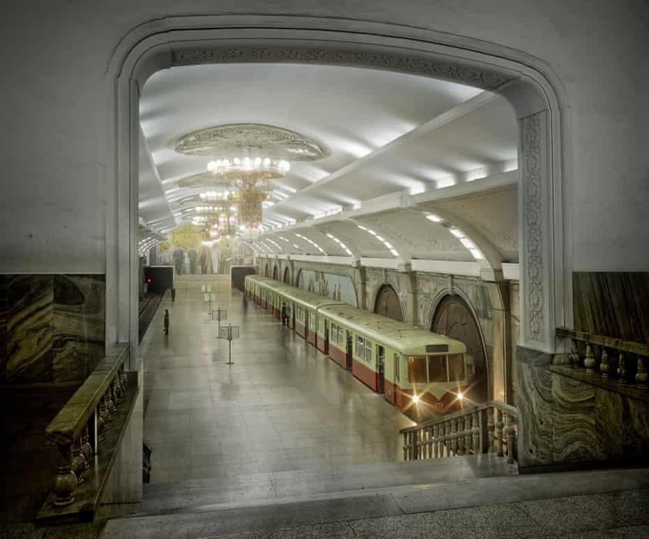 The Pyongyang metro.