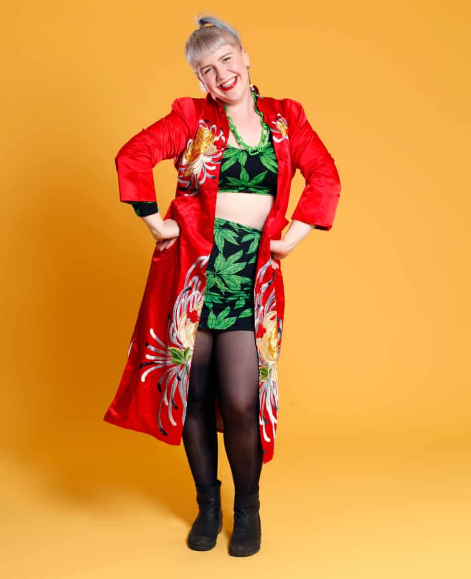 'As I've come to terms with myself, my world has gone from black and white to Technicolor': Aoife in her favourite coat.