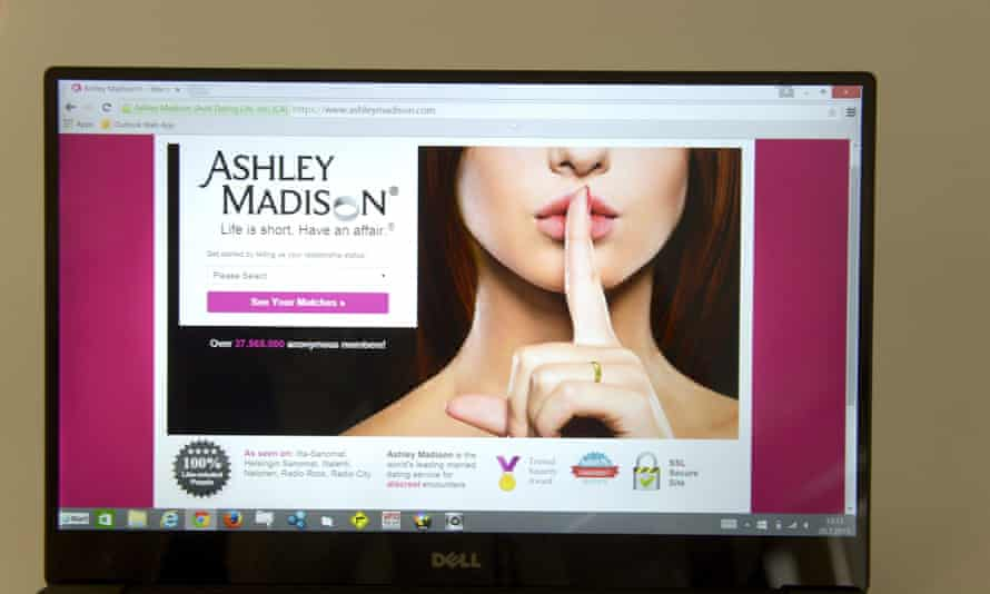 Ashley Madison's front page