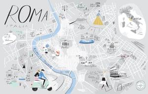 Libby VanderPloeg's illustrated map of Rome