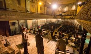 'Where variety entertainment began' … Dress rehearsals for The Sting at WIlton's Music Hall, Whitechapel.