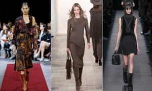 Models at Givenchy, Ralph Lauren and Alexander Wang.