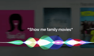 Apple TV comes with voice search.