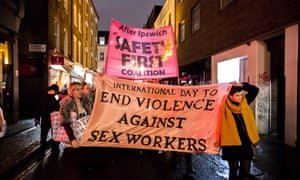 A sex workers' protest march through Soho, December 2014.