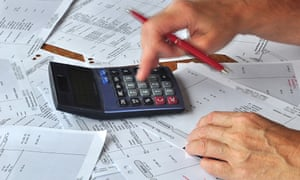 Checking bank statements with a calculator