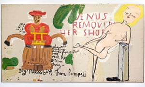 Boy Meets Girl from Pompeii, by Rose Wylie