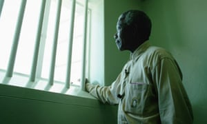 Nelson Mandela in confinement Cell