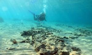 Sunken settlement in Greece