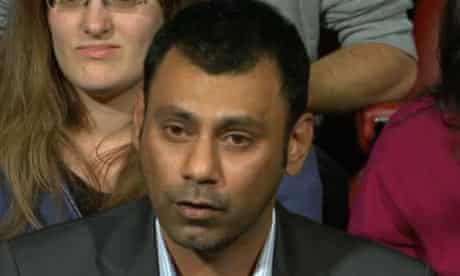 Khush Klare, a member of the audience on Question Time