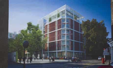 Part of the Richard Rogers scheme for Chelsea barracks