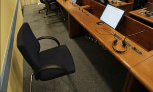 Radovan Karadzic's empty seat in The Hague