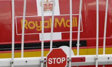 A parked Royal Mail van
