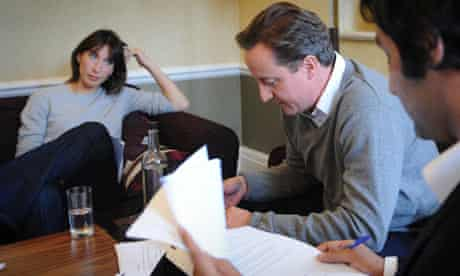 David Cameron prepares his speech
