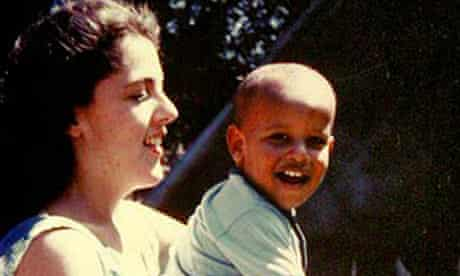 Barack Obama as a child with his mother