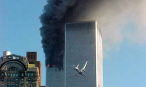 The second plane flies into the south tower