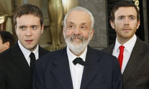 Mike Leigh with his sons