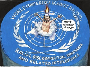 21/04/2009: Steve Bell on Ahmadinejad's speech at the UN
